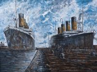 BELFAST DOCKS by John Stewart at Ross's Auctions