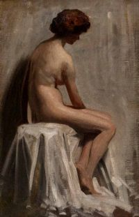 NUDE STUDY by H. Attley at Ross's Auctions
