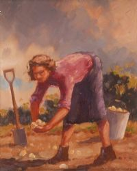 LIFTING SPUDS by W Mullan at Ross's Auctions