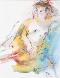 PUNK HAIRED NUDE by Judith Lee at Ross's Auctions
