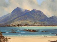 Croaghpatrick from louisburgh by david overend at rosss auctions