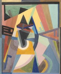 GEOMETRIC COMPOSITION by  After Mainie Jellett at Ross's Auctions
