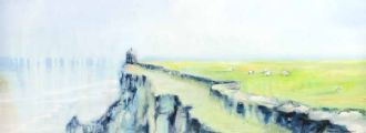COASTAL PATH NEAR MUSSENDEN TEMPLE by Martina McLaughlin at Ross's Auctions