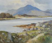 ON BALLYNAKILL BAY, NEAR LETTERFRACK, CONNEMARA by Maurice Canning  Wilks ARHA RUA