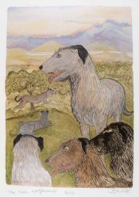 THE IRISH WOLFHOUND by Pauline Bewick RHA at Ross's Auctions