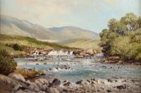 FLY FISHING by David Long UWS at Ross's Auctions