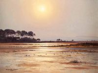 GEESE ON STRANGFORD by David Long UWS at Ross's Auctions