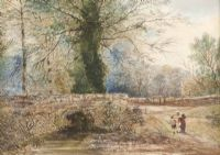 THE OLD RUSTIC BRIDGE by Frederick William Hulme at Ross's Auctions
