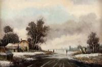 SNOW SCENE by B.H.C. Muller at Ross's Auctions