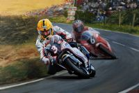 JOEY DUNLOP & DENIS McCULLOUGH by Jeff Rush at Ross's Auctions