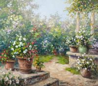 SUMMER FLOWERS by Eberhard Althoff at Ross's Auctions
