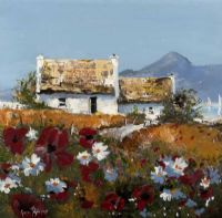 POPPIES BY THE COTTAGE by Gavin Fitzsimons at Ross's Auctions