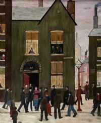 FIGURES ON POLICE STREET by Peter Kilbride at Ross's Auctions