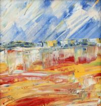 SCARLET FIELDS by Moyra Blayney at Ross's Auctions