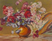 STILL LIFE, FLOWERS by Robert S Rendle Wood at Ross's Auctions