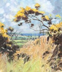GORSE IN BLOOM by John Wright at Ross's Auctions