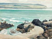 DOWNHILL & CASTLEROCK FROM PORTSTEWART by Henry Echlin Neill RUA at Ross's Auctions