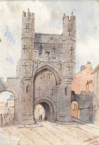 MONK BAR, YORK by L. Coates at Ross's Auctions