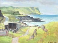 THE ANTRIM COAST by Henry Echlin Neill RUA at Ross's Auctions