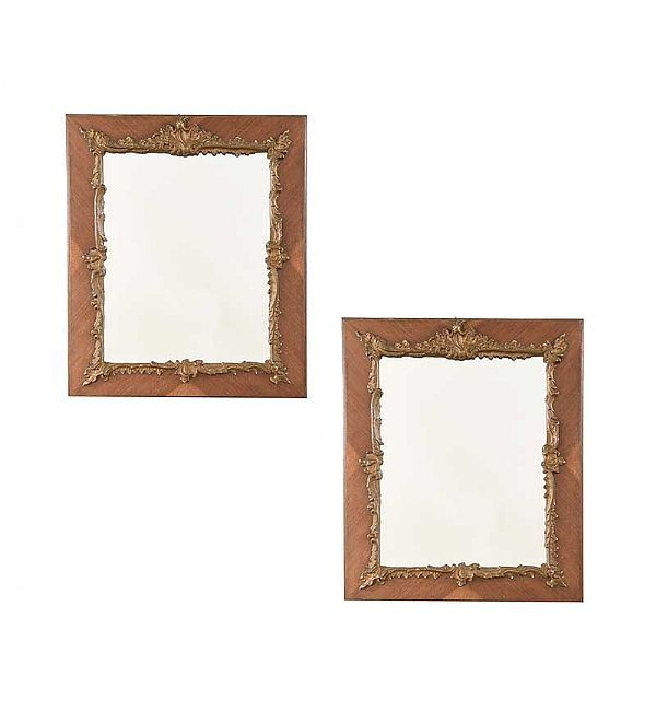 PAIR OF VICTORIAN WALL MIRRORS at Ross's Online Art Auctions