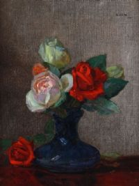 STILL LIFE, ROSES by Hans Iten RUA at Ross's Auctions