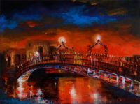 HALFPENNY BRIDGE by E. McClelland at Ross's Auctions