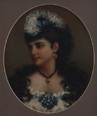 PORTRAIT OF A LADY by A. Renshaw at Ross's Auctions