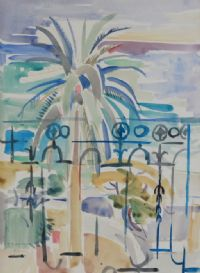 PALM TREES, NICE by Father Jack P. Hanlon RHA at Ross's Auctions
