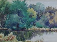 THE LAGAN NEAR DRUMBEG by Francis J. Neill ARUA at Ross's Auctions