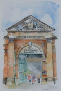ST GEORGE'S MARKET by Cathy Henderson at Ross's Auctions