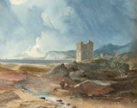 CASTLE BY THE SEA by C. Darcey at Ross's Auctions