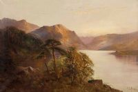 TREES BY THE LOCH by Montgomery Ansell at Ross's Auctions