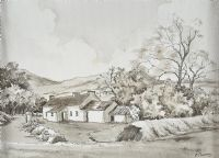 COTTAGE, IRELAND by Beth Cheney at Ross's Auctions