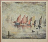 SAILING BOATS by Laurence Stephen Lowry RA at Ross's Auctions