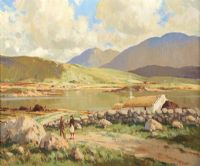 PEACEFUL MORNING, ROUNDSTONE by Maurice Canning  Wilks ARHA RUA at Ross's Auctions