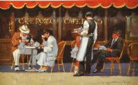 BREAKFAST AT CAFE ROSA by John Haskins at Ross's Auctions