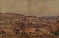 IRISH VILLAGE IN THE DISTANCE by Edward Arden at Ross's Auctions