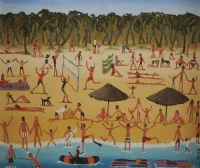 BEACH GAMES by Louise Braithwaite at Ross's Auctions
