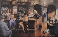 THE HEN NIGHT by Ted Jones at Ross's Auctions