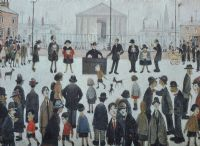 THE PRAYER MEETING by Laurence Stephen Lowry RA at Ross's Auctions