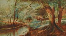 DEER BY THE WATER by M.E. Wells at Ross's Auctions