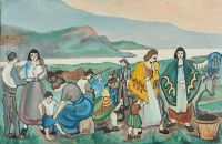CARAVAN BY THE SEA by Markey Robinson at Ross's Auctions