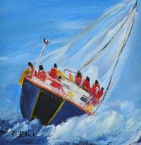 BRAVING THE SWELL by Emily  Black at Ross's Auctions