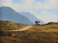 CATTLE, INAGH VALLEY, CONNEMARA by Eileen Meagher at Ross's Auctions