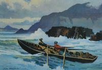 INTO THE SURF, DUNQUIN, KERRY by John Skelton at Ross's Auctions