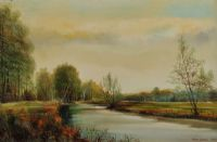 THE RIVER AVON, AMESBURY by Peter Snell at Ross's Auctions