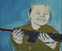 GIRL WITH GUN by Cherith McKinstry RUA at Ross's Auctions