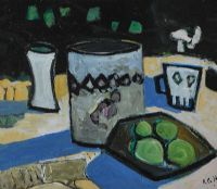 TABLE TOP STILL LIFE by Rachel Grainger Hunt at Ross's Auctions