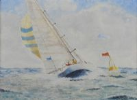 SAILING ROUND THE MARK by A. Fahy at Ross's Auctions
