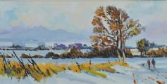 WINTER STROLLO, NEAR THE MOURNES by Alan Beers at Ross's Auctions